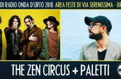 Venerdì 24 agosto 2018: The Zen Circus + Paletti.